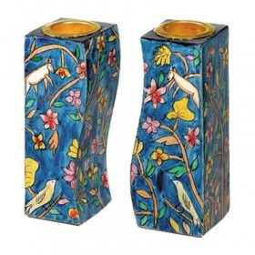Fitted Candlesticks - Flowers + Birds