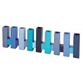 Hanukkah Menorah - Standing Squares - Blue