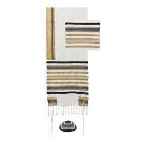 Tallit - Different Fabrics -brown+black