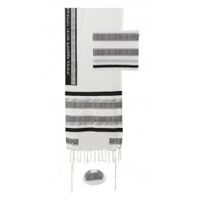 Tallit - Different Fabrics-black/white