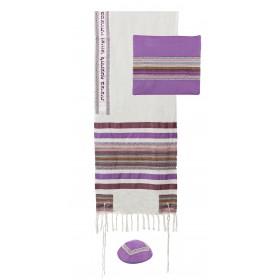 Tallit - Different Fabrics-purples