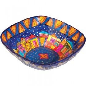 Paper Mache - Square Large Bowl - Jerusalem