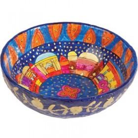 Paper Mache - Large Bowl - Pomegranate - Jerusalem
