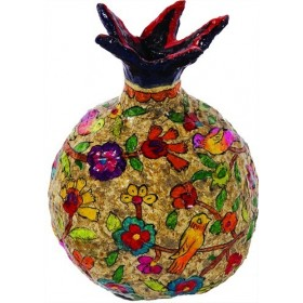 Pomegranate - Paper Mache - Large - Natural