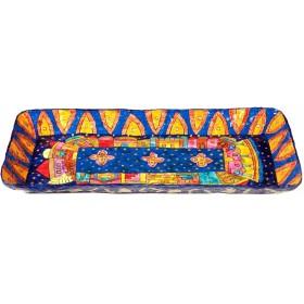 Paper Mache - Recrangle Tray - Jerusalem