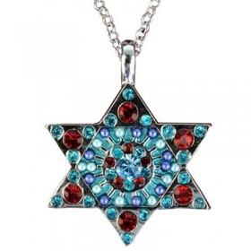 Necklace - Magen David - Multicolor