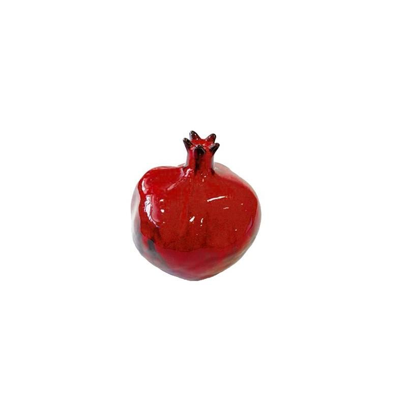 Ceramic pomegranate - Red Glaze - medium