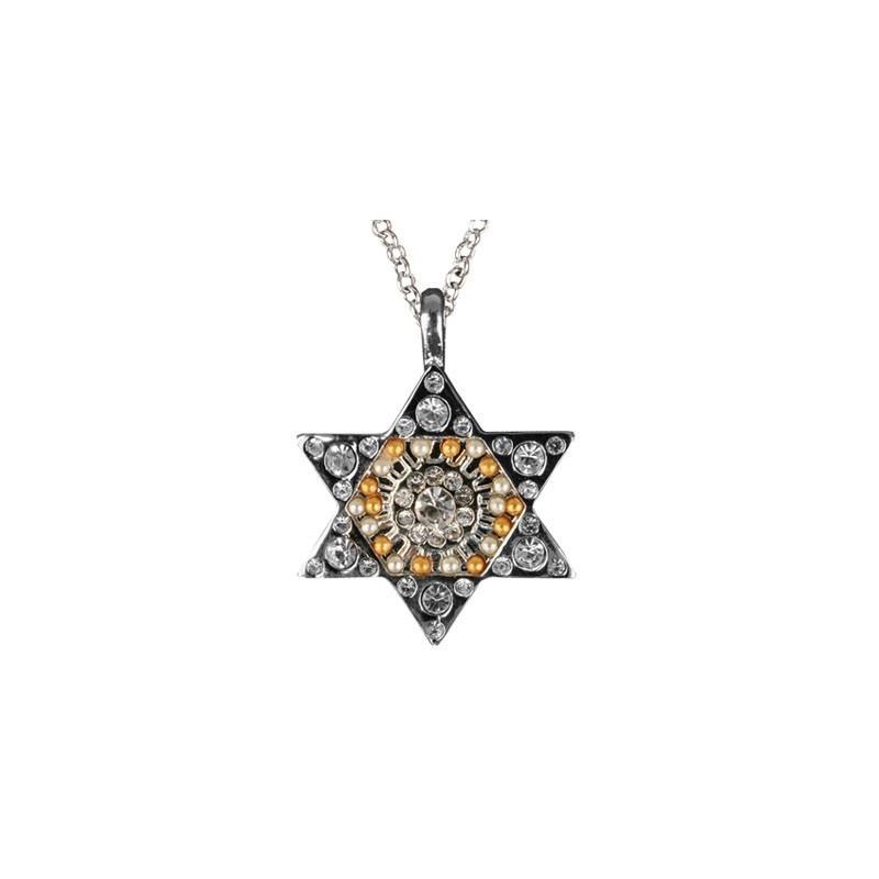 Necklace - Magen David - Silver