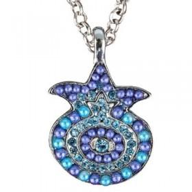 Necklace - Pomegranate - Blue