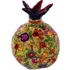 Pomegranate - Paper Mache - Medium - Natural